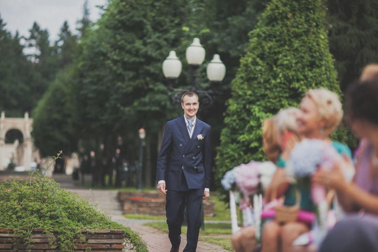 Организация свадьбы:  Выход жениха на выездной регистрации